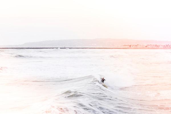 Ocean Beach Surfer Blanco, San Deigo