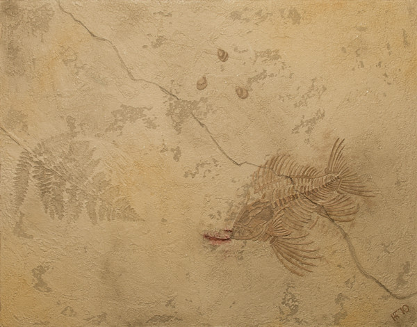 Bas Relief Fossil Art for Sale | A Fine Finish Studio the Art of History by Katie Fitzgerald