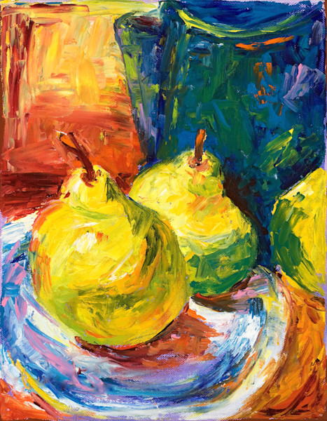 Colorful still life paintings by Claudia True. Available as fine art prints on canvas, paper and metal.