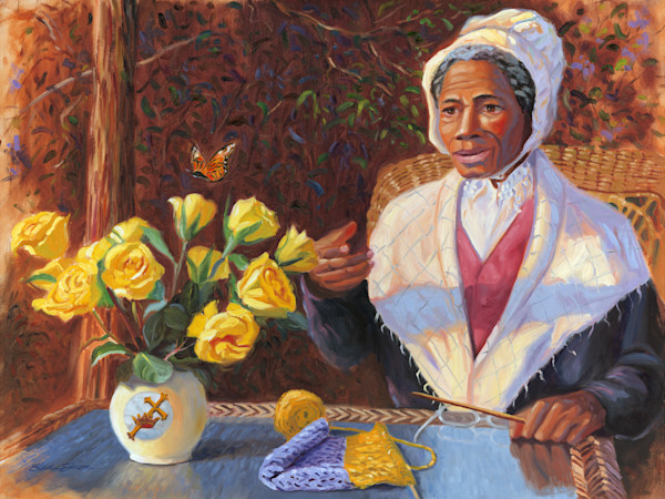 Sojourner Truth Portrait Painting by Steve Simon
