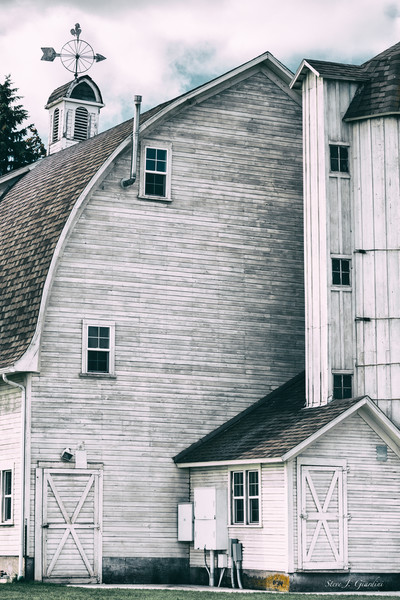 Dahmen Barn (171751LSND8) White Barn Stylized Fine Art Photograph for Sale as Print or Licensing