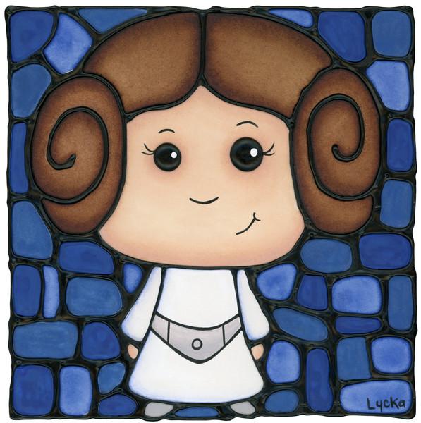 Princess Leia - Blue Artwork
