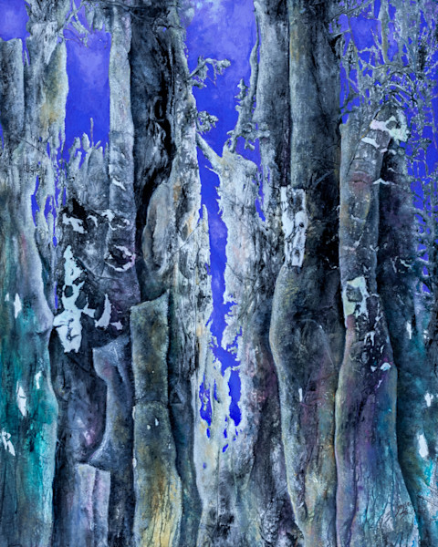 Set the mood with this cool and mystical representation in  Enchanted Forest 5 by artist Gayle Faulkner.