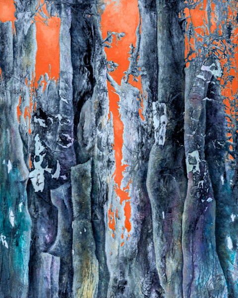 Enchanted Forrest 6 by artist Gayle Faulkner, brings to mind the romance and pageantry of King Arthur.