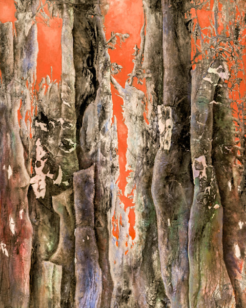 Feel the heat in this mystical representation of the Enchanted Forest by artist Gayle Faulkner.