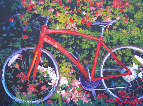 "Shop for original paintings like Azalea Bike, 30"" x 40"" oil on canvas by Matt McLeod at Matt McLeod Fine Art Gallery."