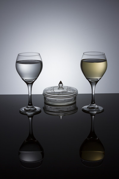 Fine Art Photograph of Romantic Wine Glasses by Michael Pucciarelli