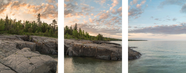 Stoney Point II captured along Lake Superior in Triptych