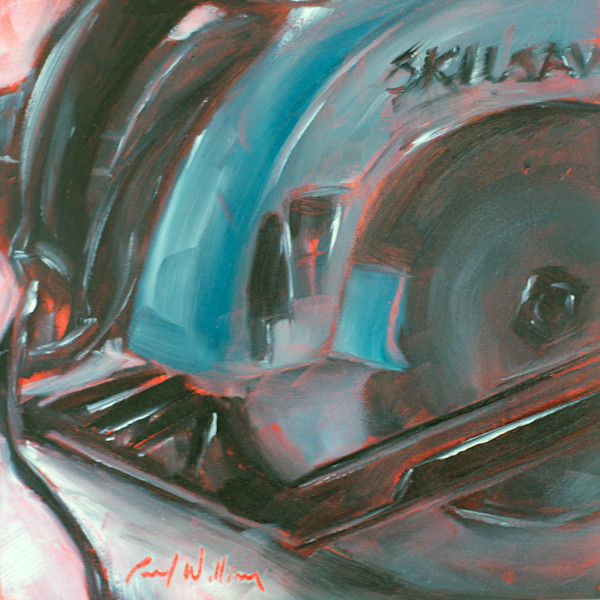 Skilsaw painting by Paul William | Still life art