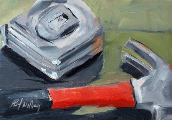 Hammer and Tape painting by Paul William | Art for Sale