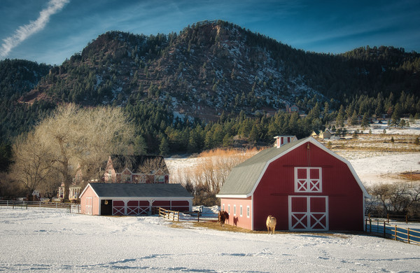 Picture of Red Colorado Horse Barn and Ranch
