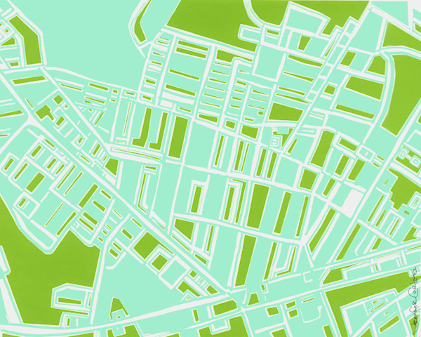 Abstract Bloomfield Map