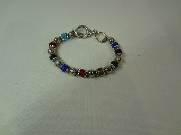 Jewelry, crystals, bracelet, hand made, peggy pike,