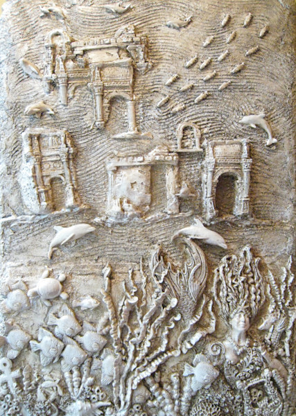 Under the Sea Bas Relief Art for Sale | A Fine Finish Studio the Art of History by Katie Fitzgerald