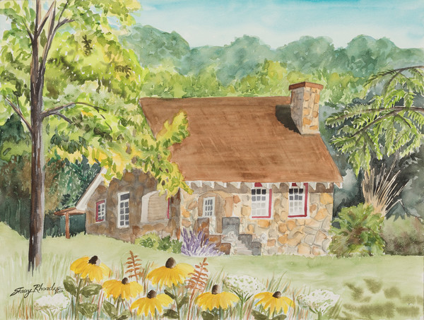Hardy Arkansas Rock House Painting
