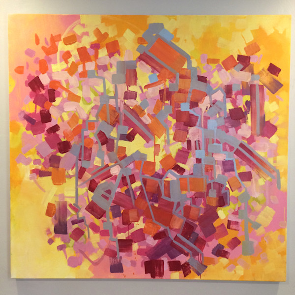 Heartfelt Celebration, oil on canvas, 40x40, 2014