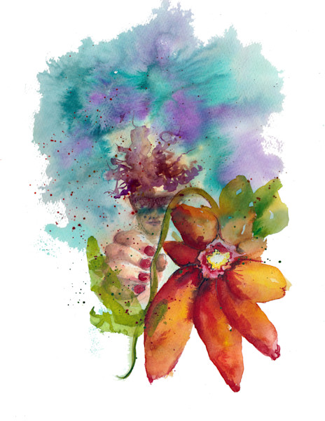 Inspirational watercolor and mixed media art for sale