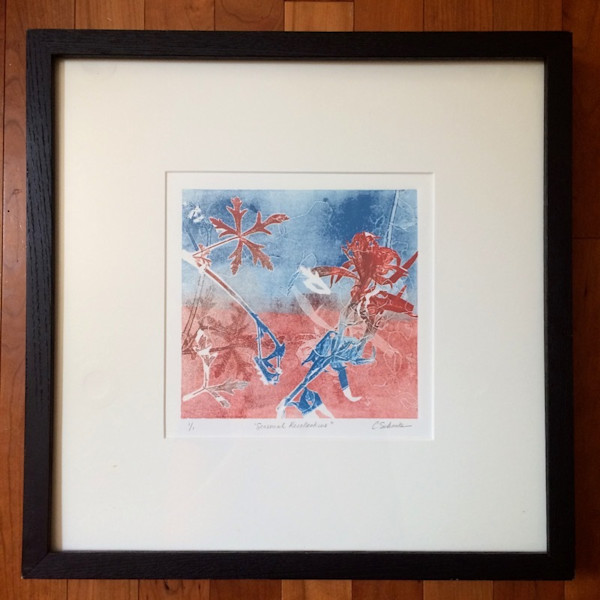 Seasonal Recollections, monotype, 16x16 Framed, 2010