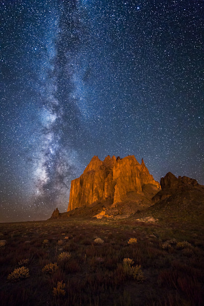 Shiprock at Night Photograph for Sale as Fine Art