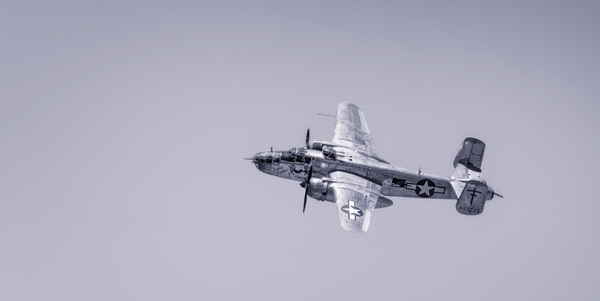 Monochrome B-24, B-25, B-29 on metal, canvas or paper, fleblanc
