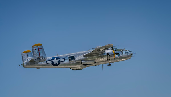 Historic B-25 Mitchell Super Rabbit In The Air Restored fleblanc