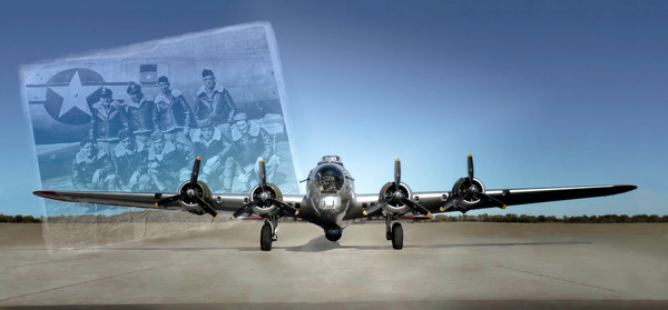 Art Photograph Boeing B-17 Flying Fortress WW2 Bomber Crew v1 fleblanc