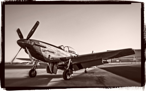 Art Photograph North American Aviation P-51 Mustang  v1 fleblanc