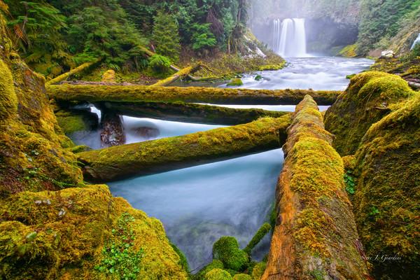 Koosha Falls Jam (131758LNND8) Waterfall Photography for Sale as Fine Art Print
