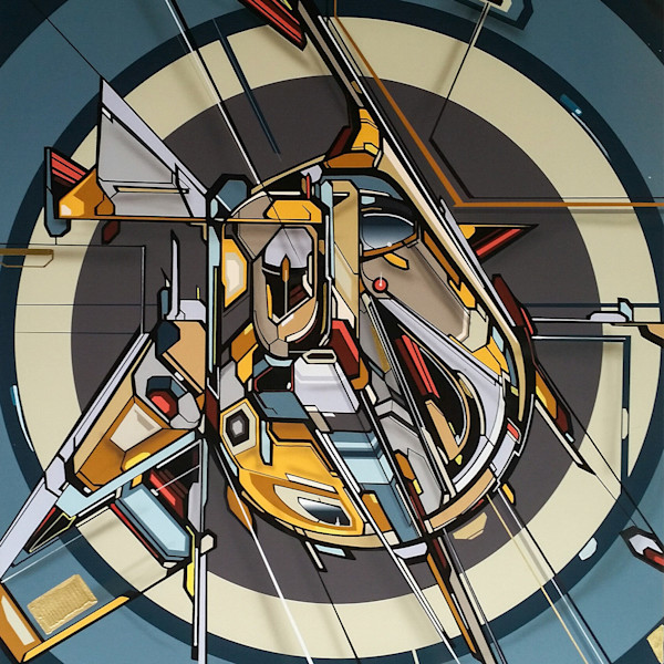 2016 Abstract Geometric mixed media Paintings for sale | MediahStudio