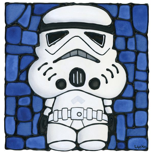 Stormtrooper Blue Artwork
