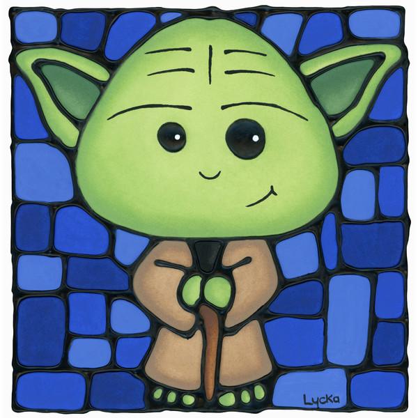 Yoda - Blue Artwork