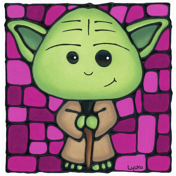 Yoda - Pink Artwork