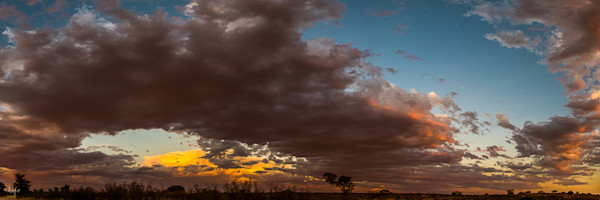 Magic sunset cloud formation, fine art photograph - Kalahari desert