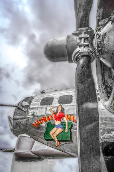 Art Photograph B-17 Flying Fortress Madras Maiden fleblanc