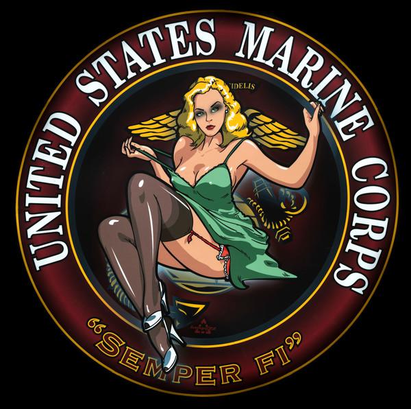 Art Photograph United States Marine Corps Semper Fi Medallion Circle fleblanc