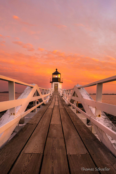 Maine lovers! The iconic Port Clyde Lighthouse featured in Forrest Gump, viewed from the boardwalk path.