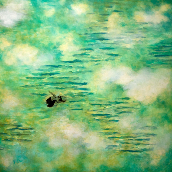Contemporary painting by Gabriela Esquivel Floating in Time