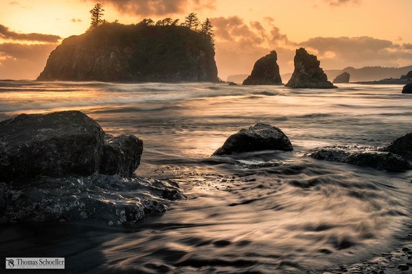 Beautiful Olympic National Park fine art prints of Ruby Beach by Tom Schoeller/Choose from 7 sizes and 4 print media options