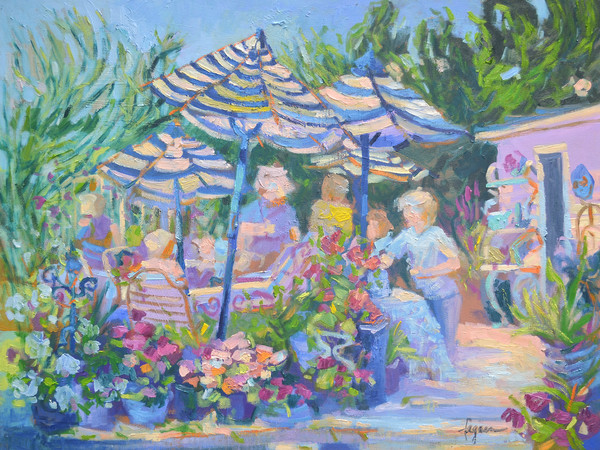 Garden Party Fine Art Print on Canvas or Watercolor Paper