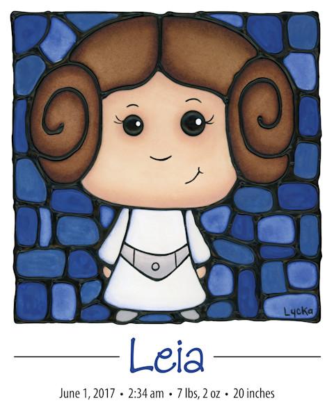 Personalized Princess Leia Print