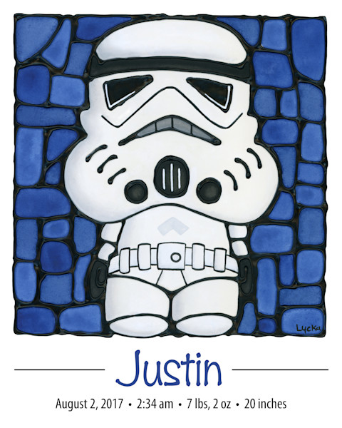 Personalized Stormtrooper Print