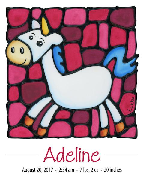 Personalized Unicorn Print