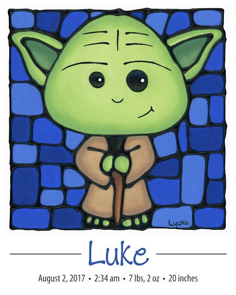 Personalized Yoda Print