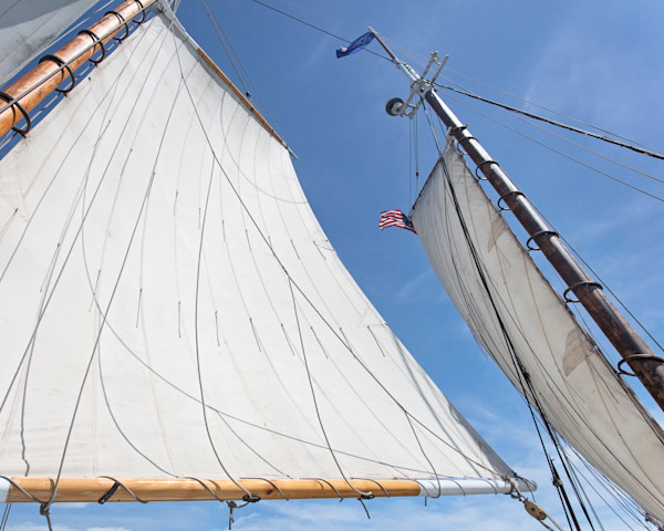 """Sailing on the Ardelle I"" Wooden Sailboat, Schooner Fine Art Photography, Cape Ann, Massachusetts"