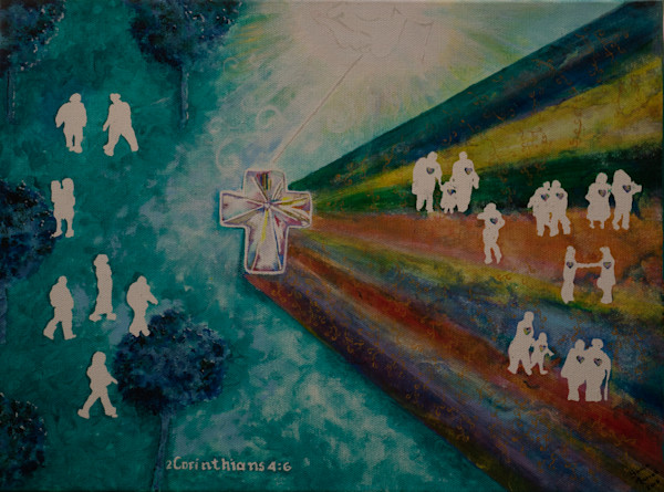 """""""Receiving the Light"""" by Sonia Farrell   Prophetics Gallery"""
