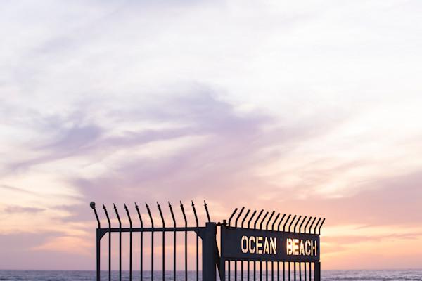 Ocean Beach Pier Gate Sunset