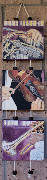 """Music To Our Ears"" 3-Tier Wall Hanging by Sonia Farrell 