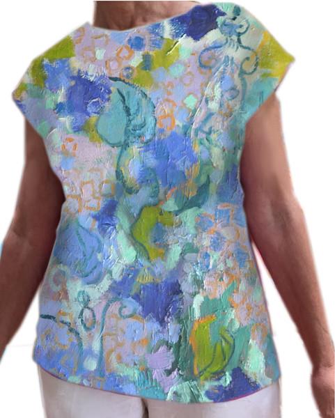 Hydrangea Heaven Blouse  Dorothy Fagan Collection