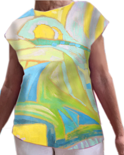 Wearable Art , Sunrise Landscape with Figures, Dorothy Fagan Collection