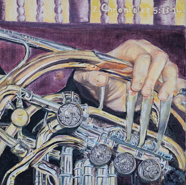 """""""Music To Our Ears - French Horn"""" by Sonia Farrell    Prophetics Gallery"""